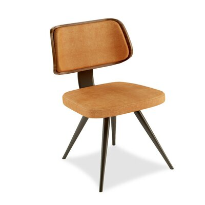 Aimee Memory Swivel Side Chair Upholstery: Paprika