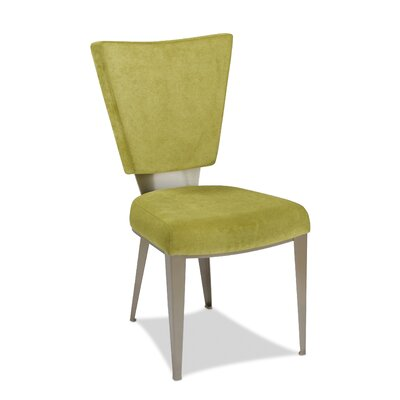 Monroe Genuine Leather Upholstered Dining Chair Upholstery: Apple - Green