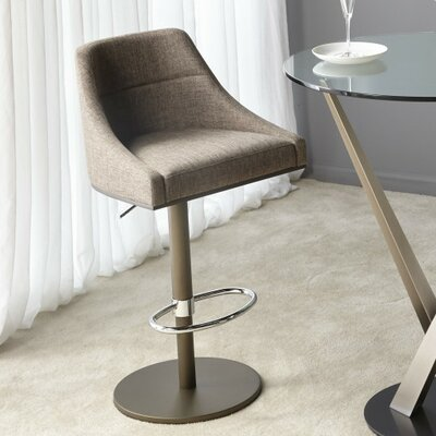 Senna Adjustable Hydraulic Bar Stool Upholstery: Sand