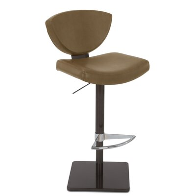Bliss Adjustable Swivel Bar Stool Upholstery: Biscuit