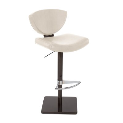 Bliss Adjustable Swivel Bar Stool Upholstery: Alabaster
