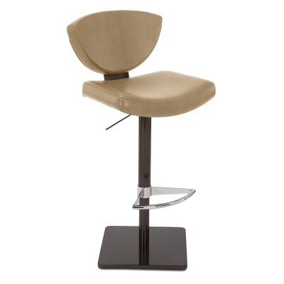 Bliss Adjustable Swivel Bar Stool Upholstery: Flax