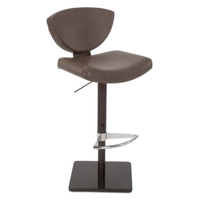 Bliss Adjustable Swivel Bar Stool Upholstery: Cobblestone