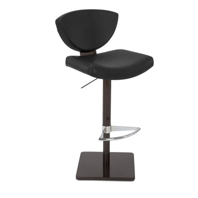 Bliss Adjustable Swivel Bar Stool Upholstery: Coal