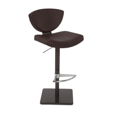 Bliss Adjustable Swivel Bar Stool Upholstery: Briar