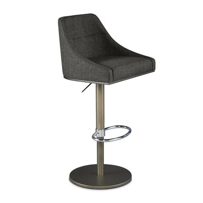 Senna Adjustable Swivel Bar Stool Upholstery: Asphalt