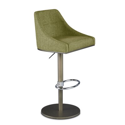 Senna Adjustable Swivel Bar Stool Upholstery: Bamboo