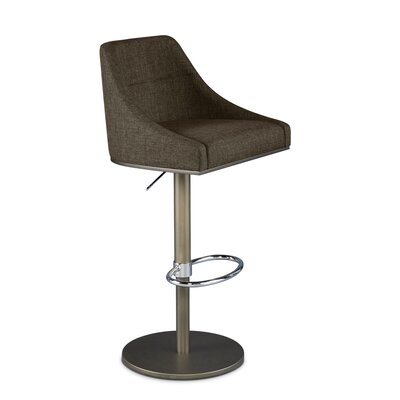 Senna Adjustable Swivel Bar Stool Upholstery: Bark