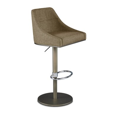 Senna Adjustable Swivel Bar Stool Upholstery: Fox