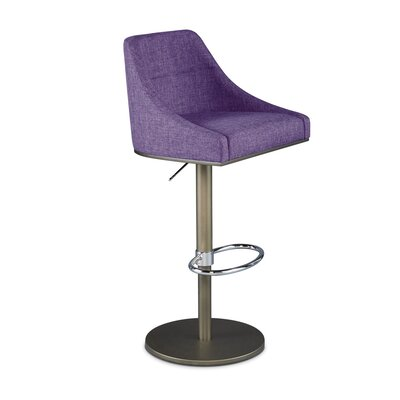 Senna Adjustable Swivel Bar Stool Upholstery: Orchid