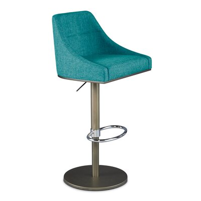 Senna Adjustable Swivel Bar Stool Upholstery: Peacock