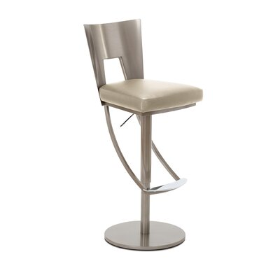 Regal Adjustable Swivel Bar Stool Upholstery: Ramie