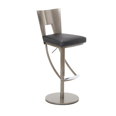 Regal Adjustable Swivel Bar Stool Upholstery: Lead