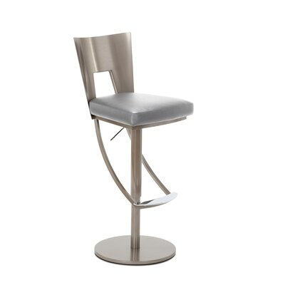Regal Adjustable Swivel Bar Stool Upholstery: Granite