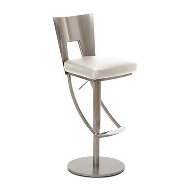 Regal Adjustable Swivel Bar Stool Upholstery: Glacier