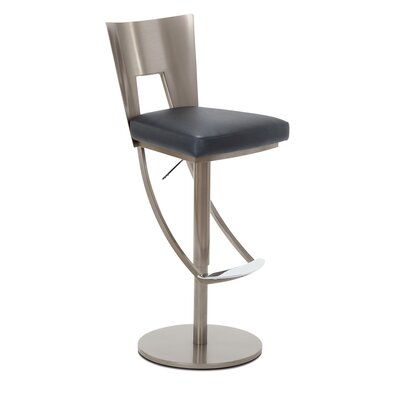 Regal Adjustable Swivel Bar Stool Upholstery: Indigo