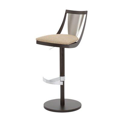 Lana Adjustable Swivel Bar Stool Upholstery: Sand