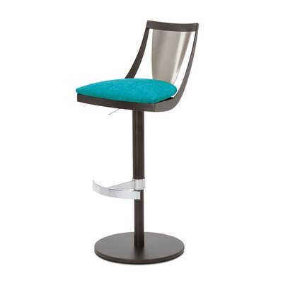 Lana Adjustable Swivel Bar Stool Upholstery: Peacock