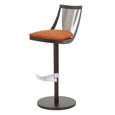 Lana Adjustable Swivel Bar Stool Upholstery: Paprika