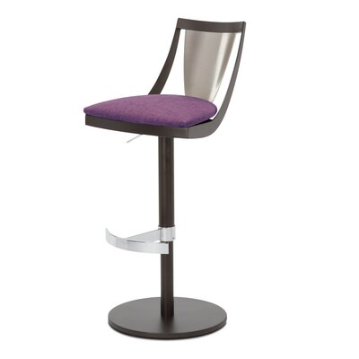 Lana Adjustable Swivel Bar Stool Upholstery: Orchid