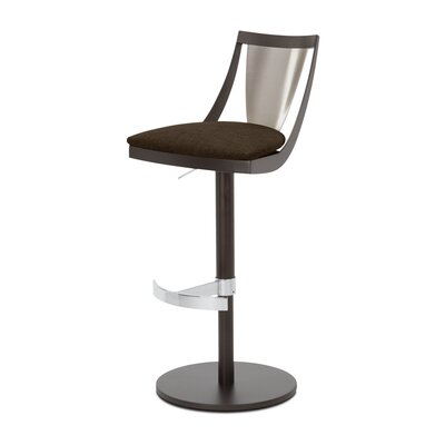 Lana Adjustable Swivel Bar Stool Upholstery: Bark