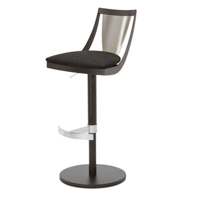 Lana Adjustable Swivel Bar Stool Upholstery: Asphalt
