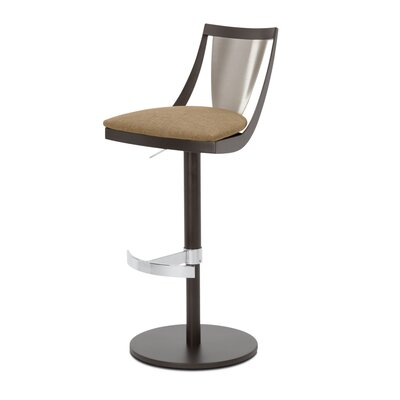 Lana Adjustable Swivel Bar Stool Upholstery: Fox