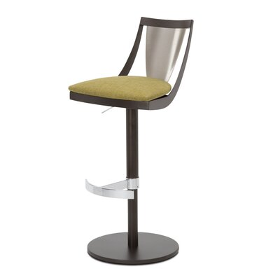 Lana Adjustable Swivel Bar Stool Upholstery: Bamboo