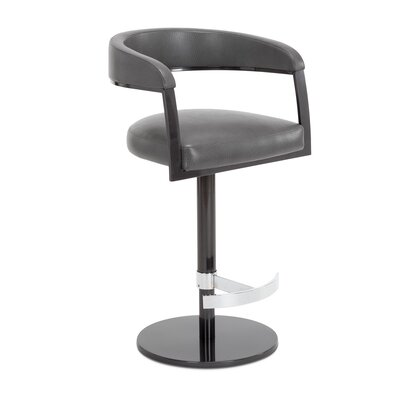Helix Adjustable Swivel Bar Stool Upholstery: Quartz