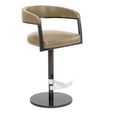 Helix Adjustable Swivel Bar Stool Upholstery: Flax