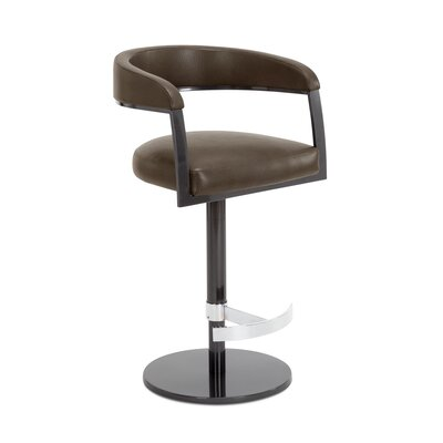 Helix Adjustable Swivel Bar Stool Upholstery: Cobblestone