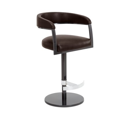 Helix Adjustable Swivel Bar Stool Upholstery: Briar