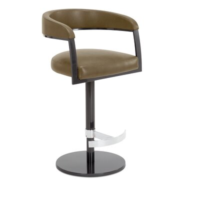 Helix Adjustable Swivel Bar Stool Upholstery: Biscuit