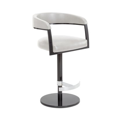 Helix Adjustable Swivel Bar Stool Upholstery: Alabaster