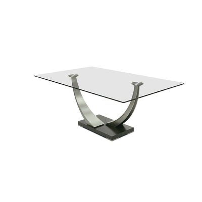 Tangent Dining Table Size: 29.5 H x 74 W x 42 D