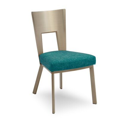 Regal Bistro Genuine Upholstered Dining Chair Upholstery: Peacock