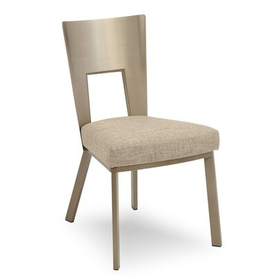 Regal Bistro Genuine Upholstered Dining Chair Upholstery: Sand