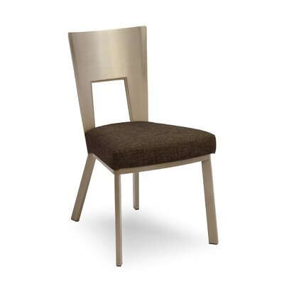 Regal Bistro Genuine Leather Upholstered Dining Chair Upholstery: Bark