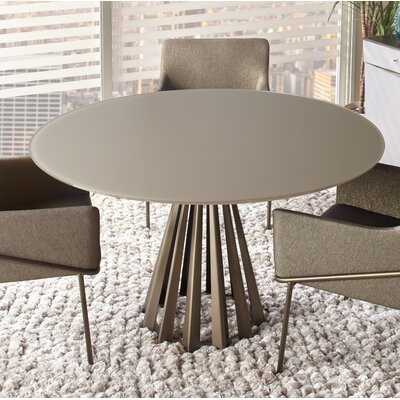 Corono Dining Table Size: 29.5 H x 54 W x 54 D, Top Color: Dune
