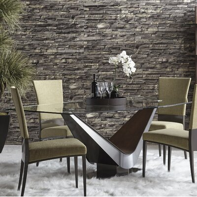 Victor Dining Table Size: 28.8 H x 76 W x 42 D