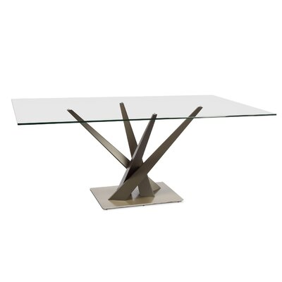Crystal Dining Table Size: 29.3 H x 74 W x 42 D