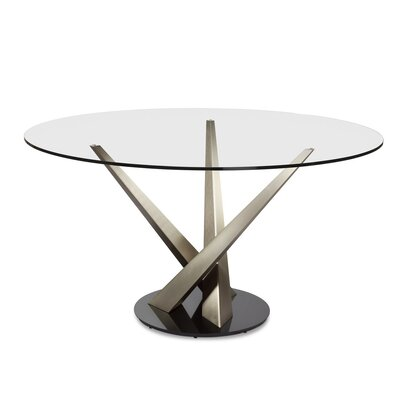 Crystal Dining Table Size: 29.3 H x 54 W x 54 D