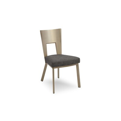 Regal Bistro Genuine Upholstered Dining Chair Upholstery: Asphalt