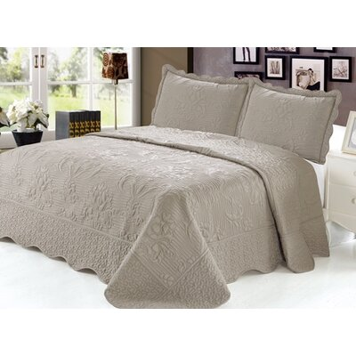 Quilt Set Size: Twin, Color: Taupe