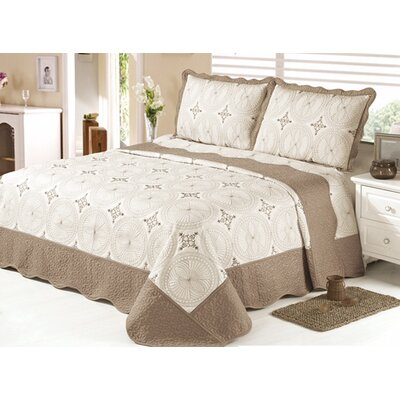 Quilt Set Size: King, Color: Cream