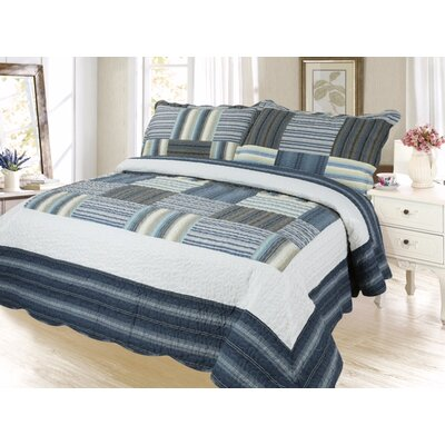 Cobb Reversible Quilt Set Size: King