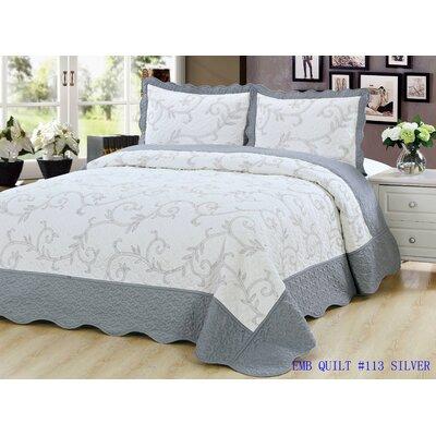 Quilt Set Size: King, Color: Silver