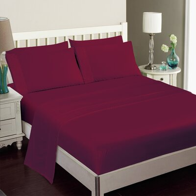 Gulliver 6 Piece Polyester/Rayon from Bamboo Sheet Set Size: Full, Color: Burgundy
