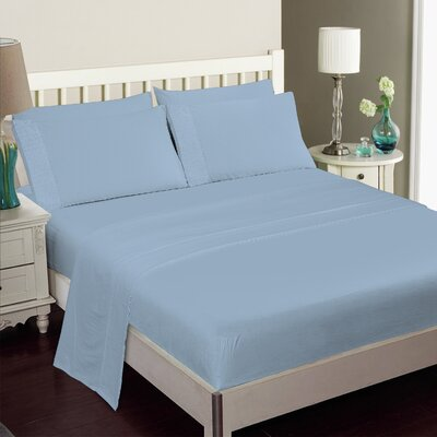 Gulliver 6 Piece Polyester/Rayon from Bamboo Sheet Set Color: Light Blue, Size: Queen