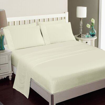 Gulliver 6 Piece Polyester/Rayon from Bamboo Sheet Set Color: Ivory, Size: Queen